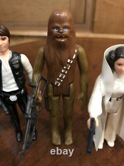 Vintage Kenner Star Wars First 12 Lot Double Telescoping DT Luke, Star World Case