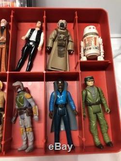 Vintage Kenner Star Wars Lot of 24 Loose Figures Includes ESB Case Boba Fett