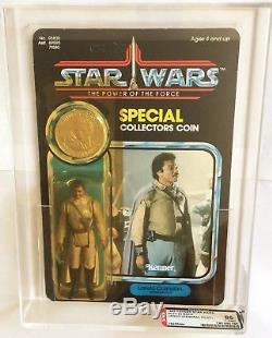 Vintage Kenner Star Wars Potf 92 Back Lando General Pilot Afa 85 Moc Unpunched