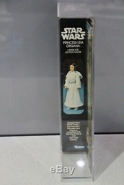 Vintage Kenner Star Wars Princess Leia Organa Doll MIB MIS 12 Display Case moc