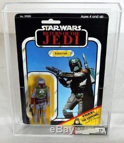 Vintage Kenner Star Wars ROTJ Boba Fett 65 Back-C AFA 70 EX+ #11529488
