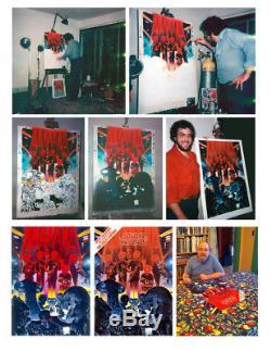 Vintage NEAR MINT 1978 Star Wars Fan Club Cantina Poster