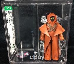Vintage Star Wars 1977 KENNER VINYL CAPE JAWA 3.75 Figure AFA 80+ CIB COA HK COO
