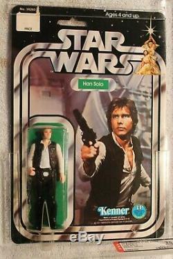 Vintage Star Wars 1978 Han Solo Small Head 12-back C AFA 75