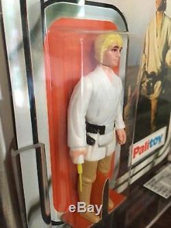 Vintage Star Wars 1978 MOC PALITOY 12-BK-B Luke Skywalker UKG 90% GOLD Unpunched