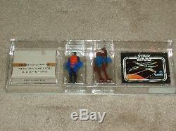 Vintage Star Wars 1979 AFA 80 WALRUS MAN HAMMERHEAD SEARS CATALOG MAILER 2 PACK