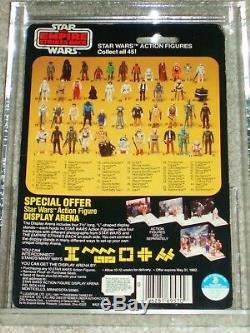 Vintage Star Wars 1981 KENNER AFA 75 BOBA FETT ESB 45 BACK CARD MOC