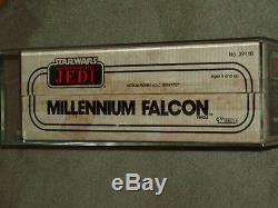 Vintage Star Wars 1983 kenner AFA 80+ MILLENNIUM FALCON ROTJ SEALED BOXED MISB