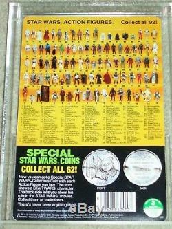 Vintage Star Wars 1985 KENNER AFA 85/85/85 C-3PO Removable Limbs POTF Back MOC