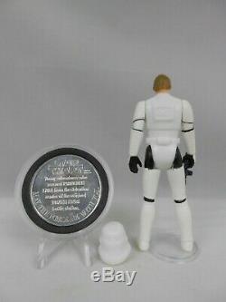 Vintage Star Wars 1985 Luke Stormtrooper E N Mint Vintage Complete withPOTF Coin^