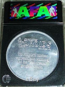 Vintage Star Wars 1985 VLIX Unproduced Droids Cartoon Prototype AFA 80 Coin POTF