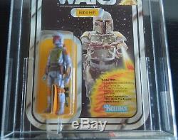 Vintage Star Wars 21 Back-b Boba Fett Afa 80 Kenner 1979 Misb Moc Mint