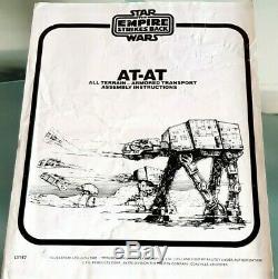 Vintage Star Wars AT-AT Walker & Box Vintage Mint Lit up Chin Guns! ROTJ 1983