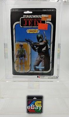 Vintage Star Wars Action Figure 77 Back Boba Fett Stunning AFA80 High Grade