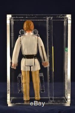 Vintage Star Wars Action Figure Luke Skywalker Brown Hair Loose AFA 85 ANH