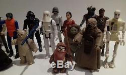 Vintage Star Wars Action Figures Job Lot Includes Lumat Last 17, Jawa etc