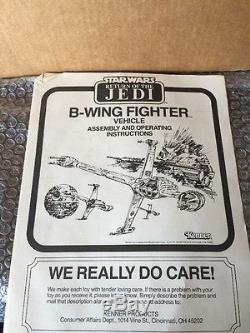 Vintage Star Wars B Wing Fighter 1983 Original Unapplied Stickers Unused withBox