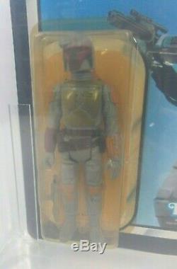 Vintage Star Wars Boba Fett Afa 70 70/80/80 Desert Scene 77 Back Kenner