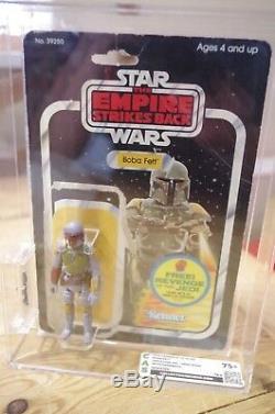 Vintage Star Wars Boba Fett CAS Graded not AFA UKG Figure and Original Card