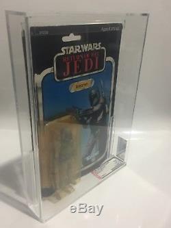 Vintage Star Wars Boba Fett Rotj Moc Afa 75 Taiwan 1983