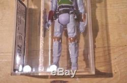 Vintage Star Wars Boba Fett Trilogo Variant UKG Graded Unpainted Knee