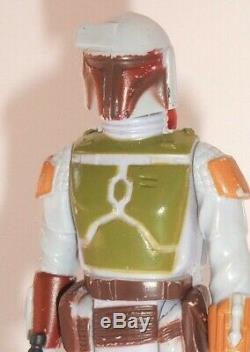 Vintage Star Wars Complete Tri Logo Boba Fett Figure 1979 100% Original
