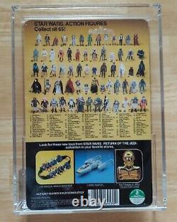 Vintage Star Wars DEATH STAR DROID AFA 85 80/85/85 RARE CLEAR BUBBLE! 65 BACK