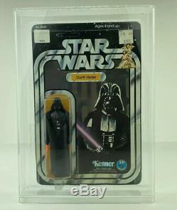 Vintage Star Wars Darth Vader MOC 12 Back-A SKU Footer Unpunched (Kenner, 1977)