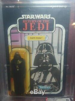 Vintage Star Wars Darth Vader Return Of The Jedi 1983 77 Back- A ROTJ AFA 85