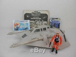 Vintage Star Wars ESB 1981 Snowspeeder withBox Nice Working Light & Sound Kenner