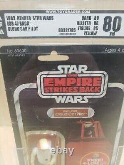 Vintage Star Wars Empire Strikes Cloud Car Pilot 47 Back Moc Afa Graded 80 Lqqk