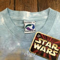 Vintage Star Wars Episode 1 Liquid Blue Tie-Dye T-Shirt Men's Size XL NWT