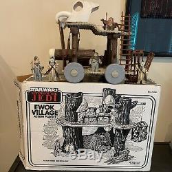 Vintage Star Wars Ewok Village, 5 Ewoks, Ewok Battle Wagon