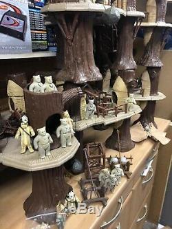 Vintage Star Wars Ewok Village Complete Lot X 5 Villages, Ewoks, Extras Original
