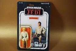 Vintage Star Wars Farmboy Luke Skywalker Action Figure 65 B Back Kenner Moc Case
