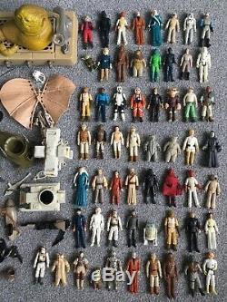 Vintage Star Wars Figures x56 And Vehicles Job Lot