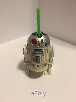 Vintage Star Wars Glasslite R2-D2 R2D2 With Lightsaber Very Rare In Great Shape