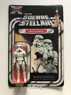 Vintage Star Wars Italian Harbert Stormtrooper MOC 12 Back Guerre Stellari