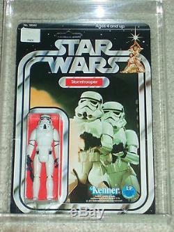 Vintage Star Wars KENNER 1978 AFA 80 STORMTROOPER ANH 12 BACK-C MOC UNP CLR BUB