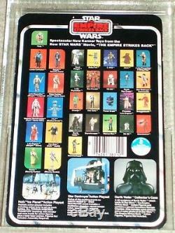 Vintage Star Wars KENNER 1980 AFA/CAS 80+ YODA Orange Snake ESB 32 back-B MOC