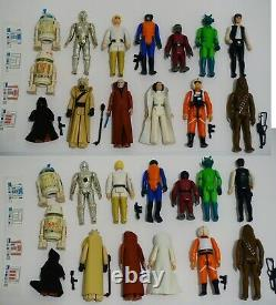 Vintage Star Wars Kenner Figure and Weapons Lot 1977-1984 with C3-PO case + more