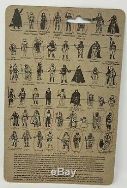 Vintage Star Wars Lili Ledy Prune Face Cardback Only Rare HTF