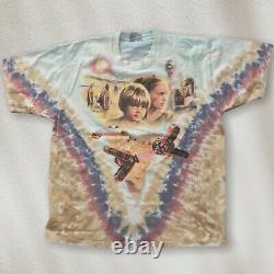 Vintage Star Wars Liquid Blue Mos Eisley Darth Maul Anakin Padme Shirt Sz Large