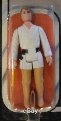 Vintage Star Wars Luke Skywalker Empire Strikes Back 45 Back Kenner AFA ready