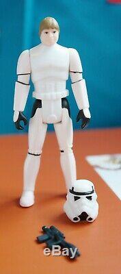 Vintage Star Wars Luke Stormtrooper Disguise POTF 1984 Kenner Figure complete