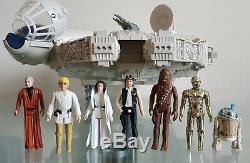 Vintage Star Wars Millenium Falcon 1979 Kenner Original 7 Original 1977 Figures