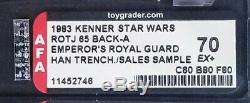 Vintage Star Wars Moc Han Solo / Emperors Royal Guard Salesman Sample Afa 70