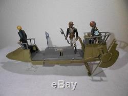 Vintage Star Wars POTF 1984 Tatooine Skiff with3 Figures Nice Condition