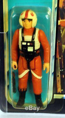 Vintage Star Wars POTF Carded Luke (X-Wing Pilot) AFA 80+ Y-NM #11151117