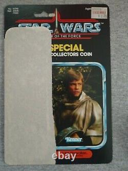 Vintage Star Wars POTF Luke Poncho with coin, cardback 100% original 1985 Last 17